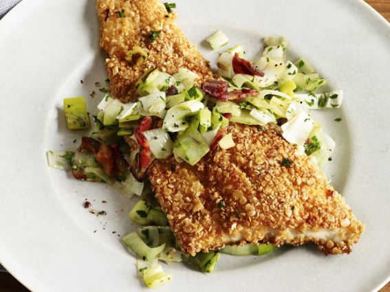 Healty Oatmeal Crusted Trout